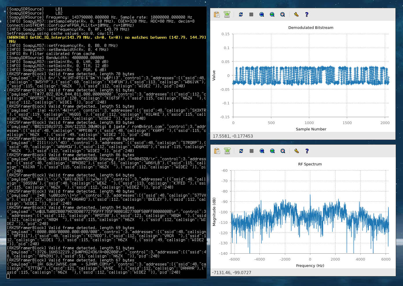 LimeSDR LuaRadio support and Arch Linux package – MyriadRF