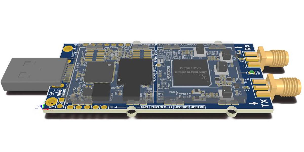 LimeSDR Mini (Render)